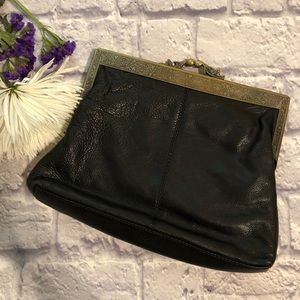 Leather and Brass Clutch